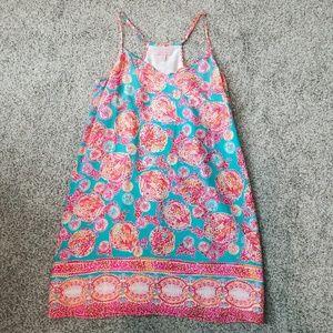 Lilly Pulitzer Pink Dusk Strappy Silk Dress